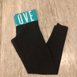 Victoria secret pink yoga pant leggings black